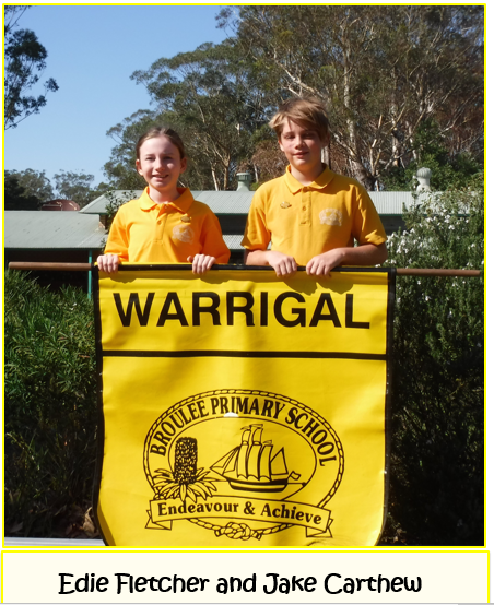 2020 Warrigal House Captains - Edie Fletcher and Jake Carthew