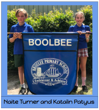 2020 Boolbee house captains - Riley Newell and Daisy West