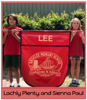 2021 Lee House Captains - Lachy Plenty and Sienna Paul