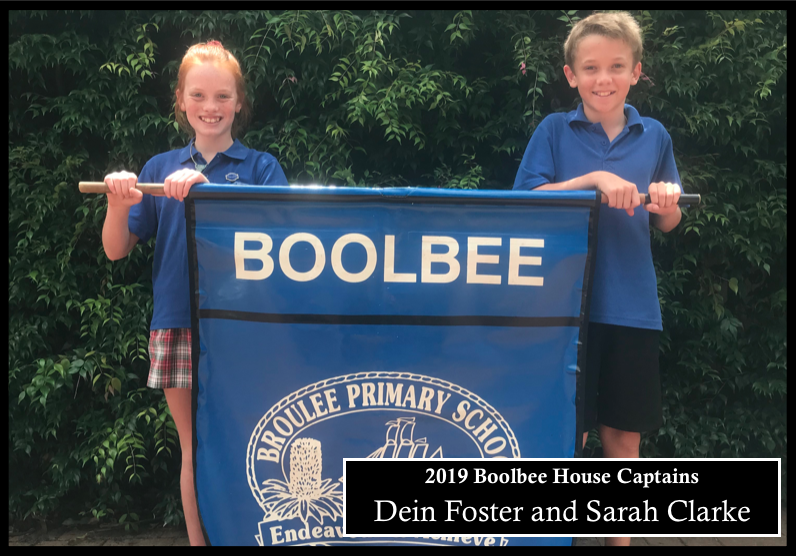 2019 Boolbee house captains - Dein Foster and Sarah Clarke