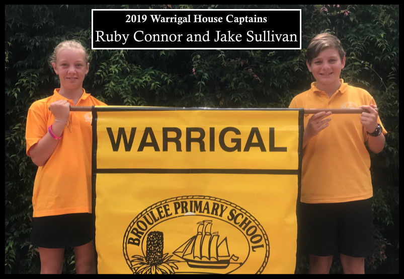 2019 Warrigal house captains: Ruby Connor and Jake Sullivan