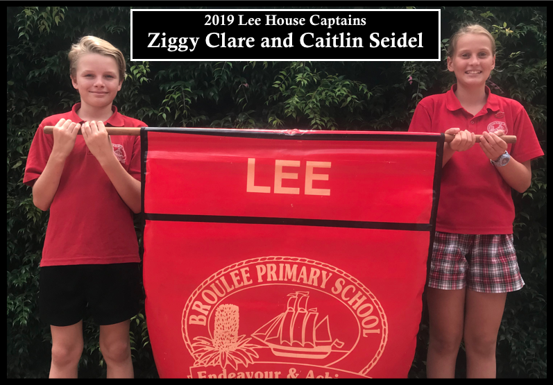2019 Lee house captains: Ziggy Clare and Caitlin Seidel
