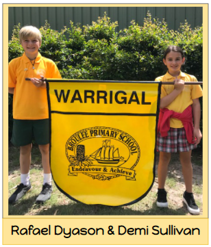 2021 Warrigal House Captains - Rafael Dyason and Demi Sullivan