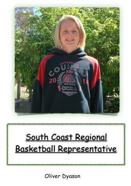 Oliver Dyason South coast regional basketball representative